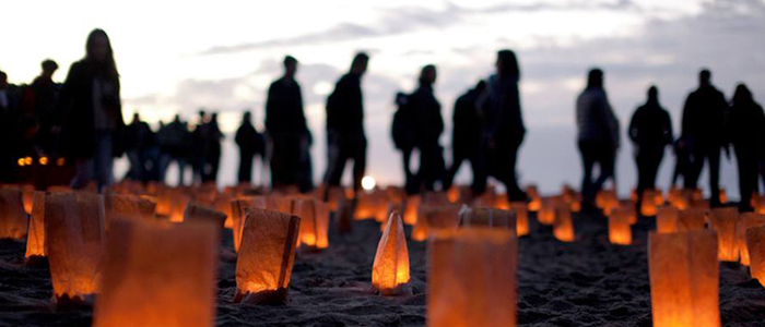 2014 Festival of Light and Gratitude: The 2nd Annual Black Friday luminous labyrinth walk at Baker Beach, Photo by Scott Sawyer